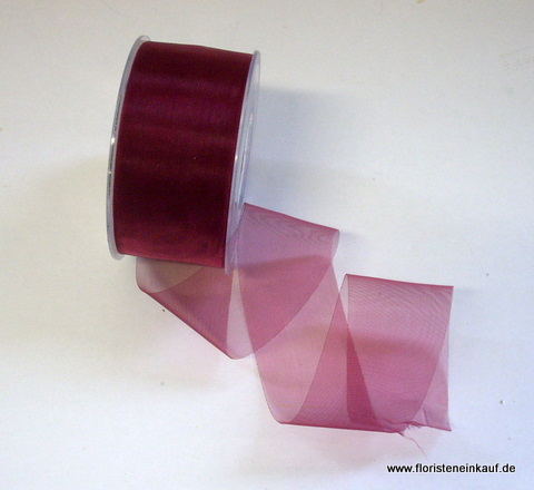 Organza-Band, 40mm / 50yds, bordeaux