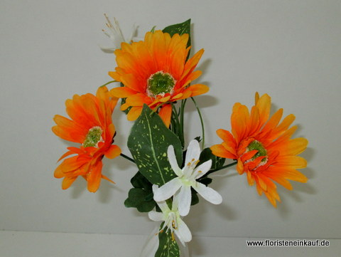 Gerbera-Bouquet, 23cm, orange